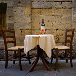 Our first European honeymoon dinner