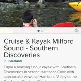 Cruise & Kayake Milford Sound