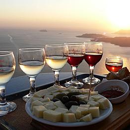 Sampling Greek Wine