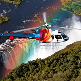 Heli flight over the Victoria Falls