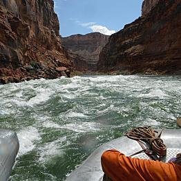 A river rafting ride through a canyon!