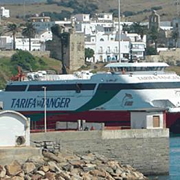 Ferry across the Strait of Gibraltar