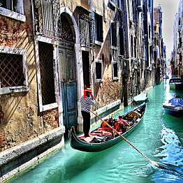 Gondola ride for two in Venice