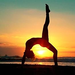 Yoga Lesson on the Beach