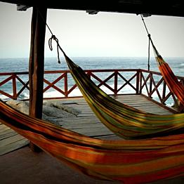 Rent hammocks at Tayrona Parque Nacional