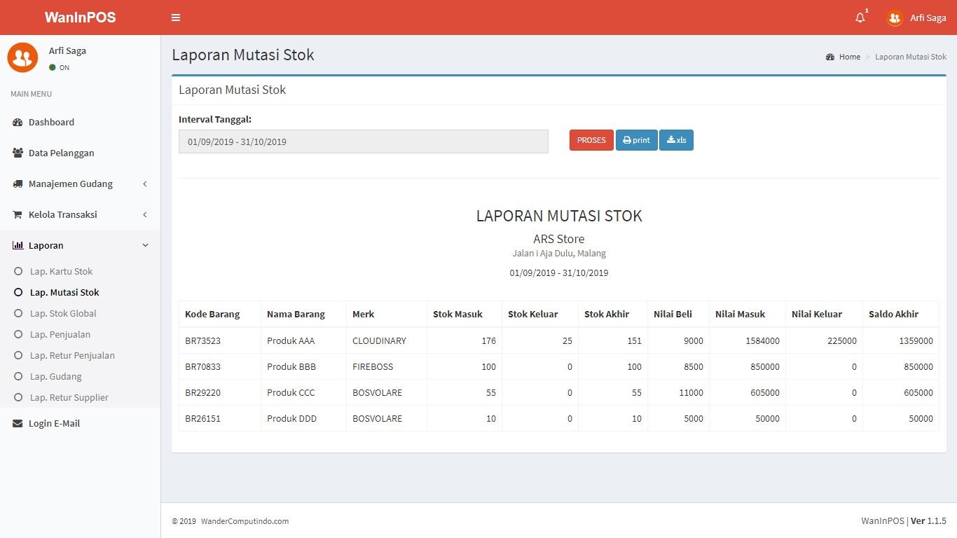 Jasa Pembuatan Aplikasi POS Inventory