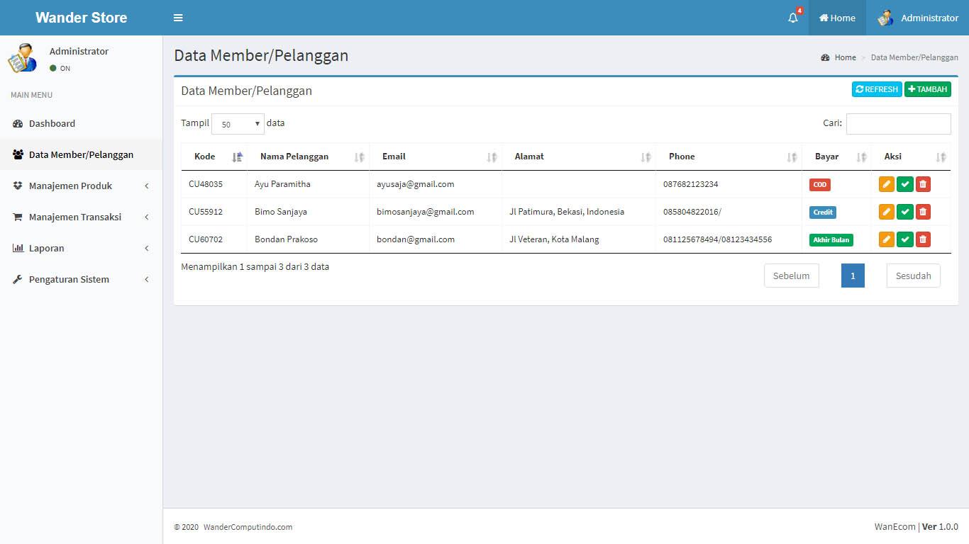 Jasa Pembuatan Aplikasi Database Custom