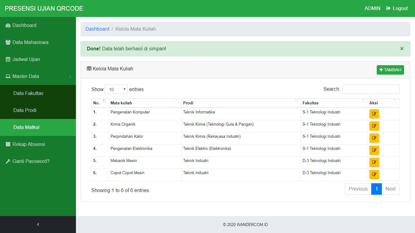 Aplikasi Absensi Mahasiswa QRcode Enkripsi AES 256 bit