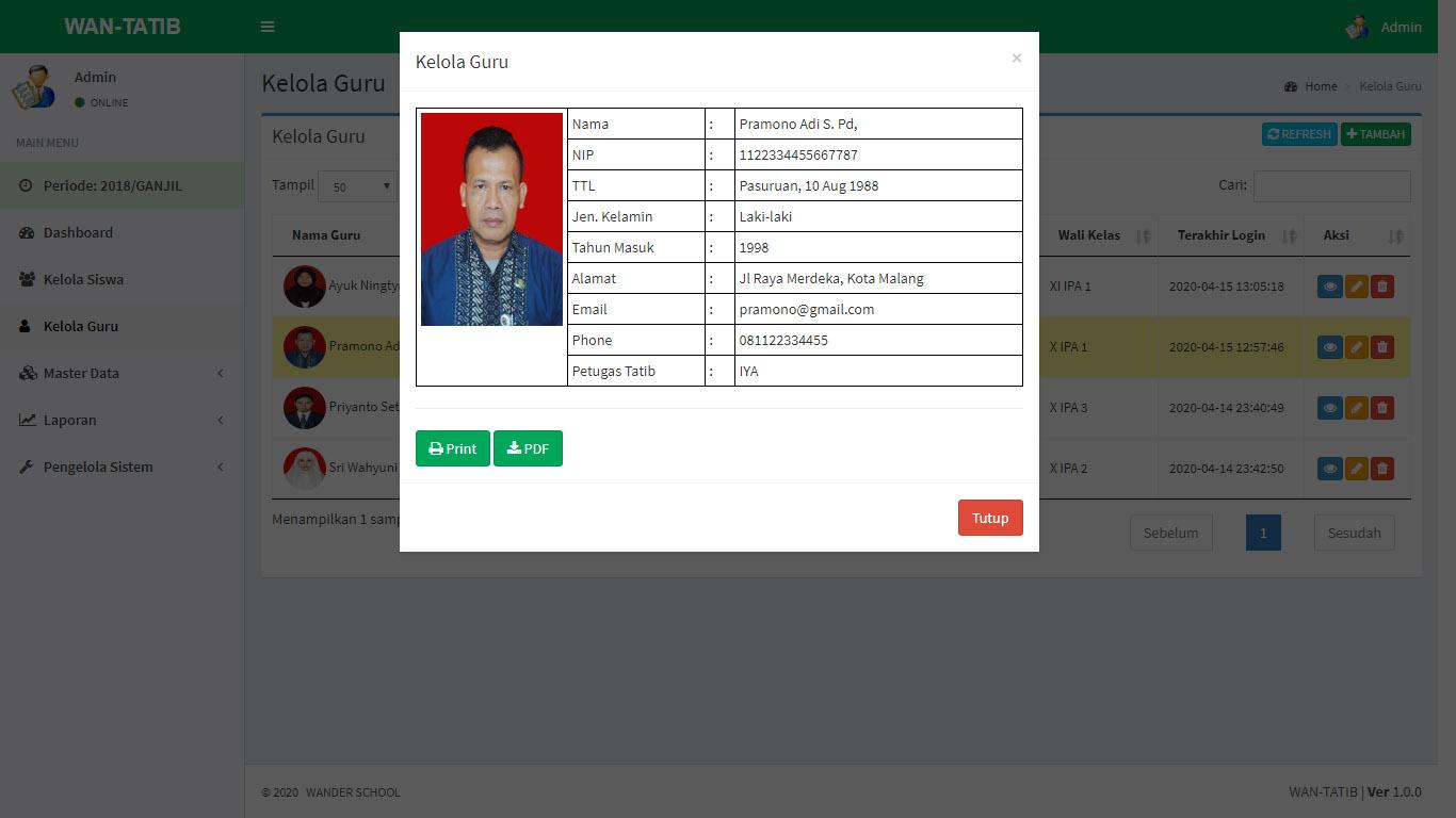 WanTatib Program SIM TATIB Siswa