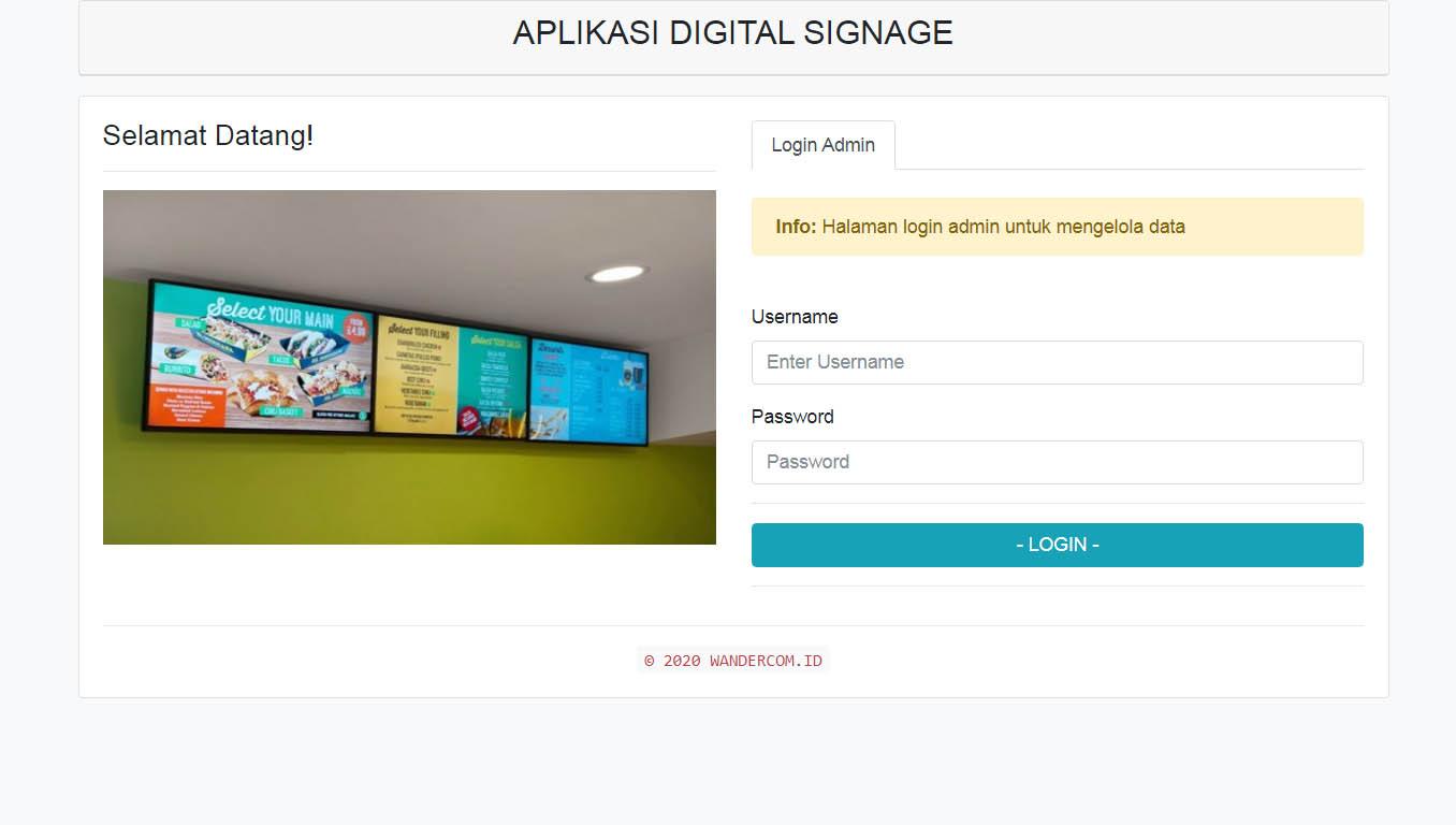WanDigs - Digital Signage Layar Informasi