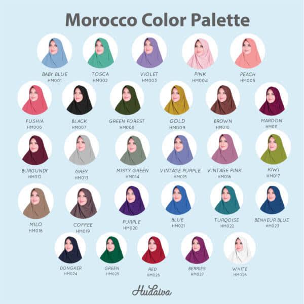 Jilbab instan hudaiva marocco hm025