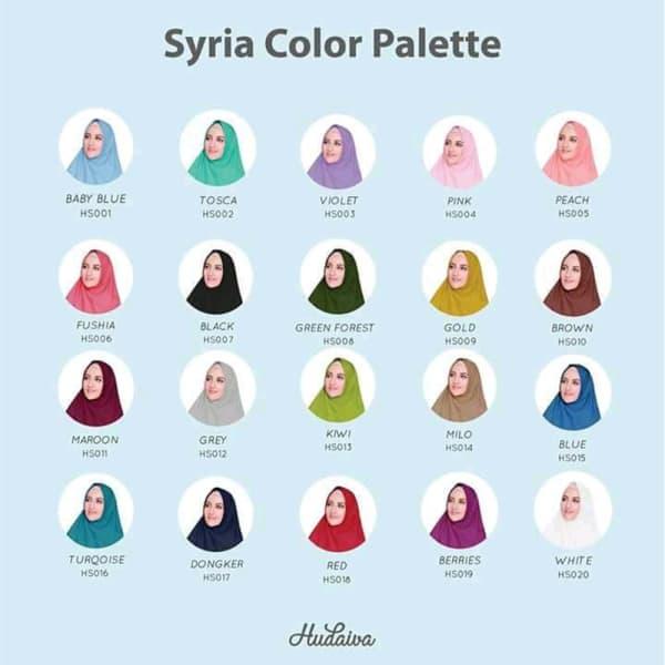 Jilbab instan hudaiva syiria hs016