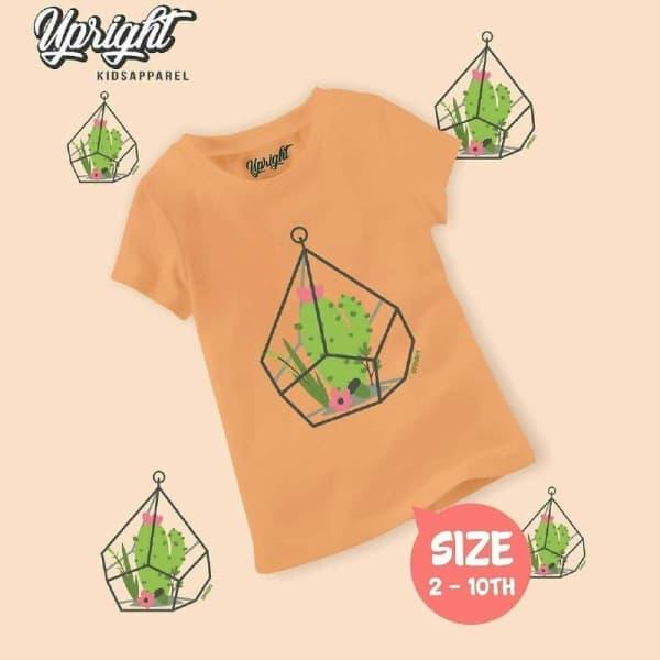 Kaos Anak Lucu gambar kaktus Upright