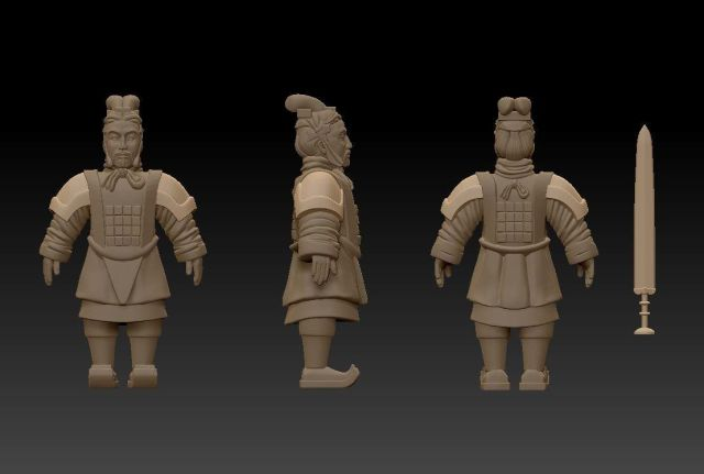 10mm Terracotta Army Terracotta-spearmen-wip2