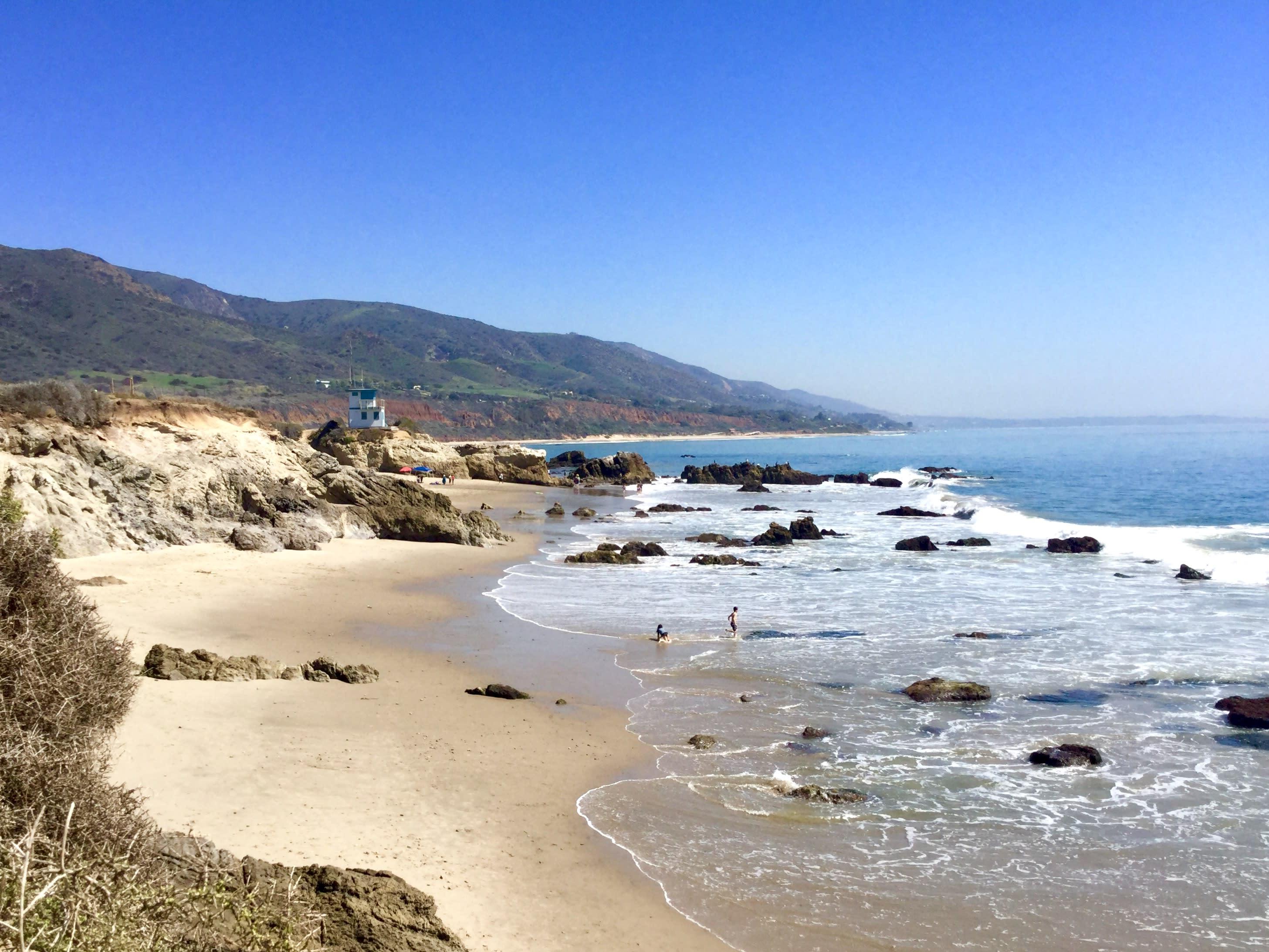 Leo Carrillo State Beach hidden beaches