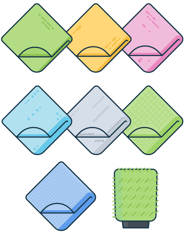 clean microfiber towels