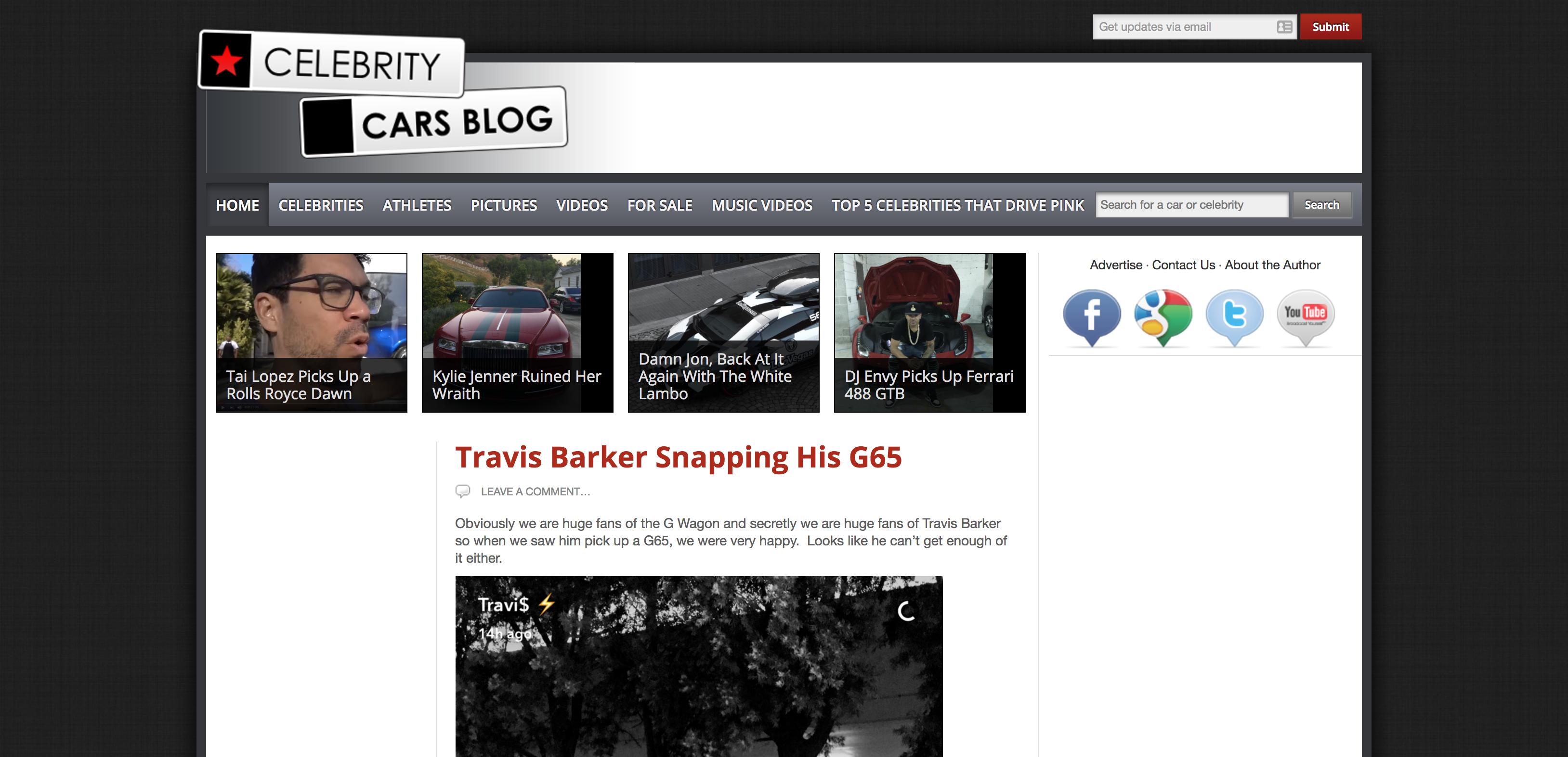 Celebrity Cars Blog