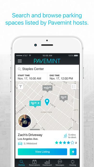 pavemint parking app screenshot 2