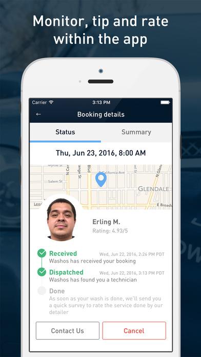 washos app screenshot 3