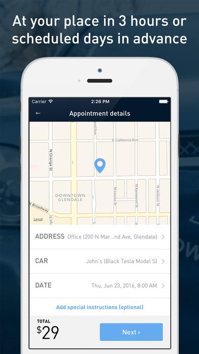 washos app screenshot 1