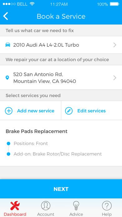 yourmechanic car apps screenshot 3