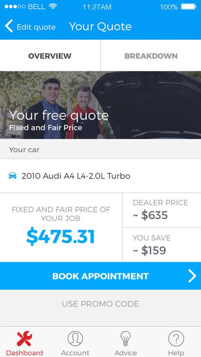 yourmechanic car apps screenshot 1