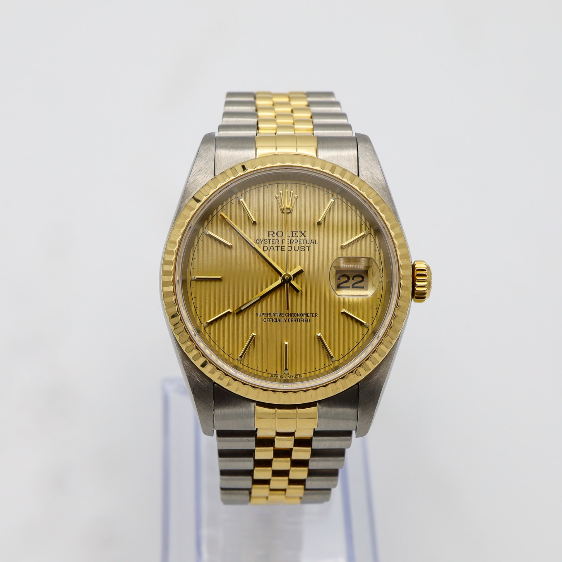 Rolex Datejust Two-Tone Tapestry Dial