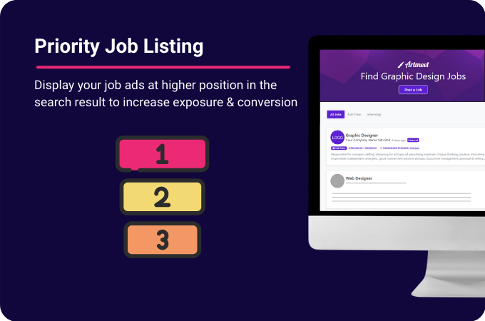 Priority Job listing