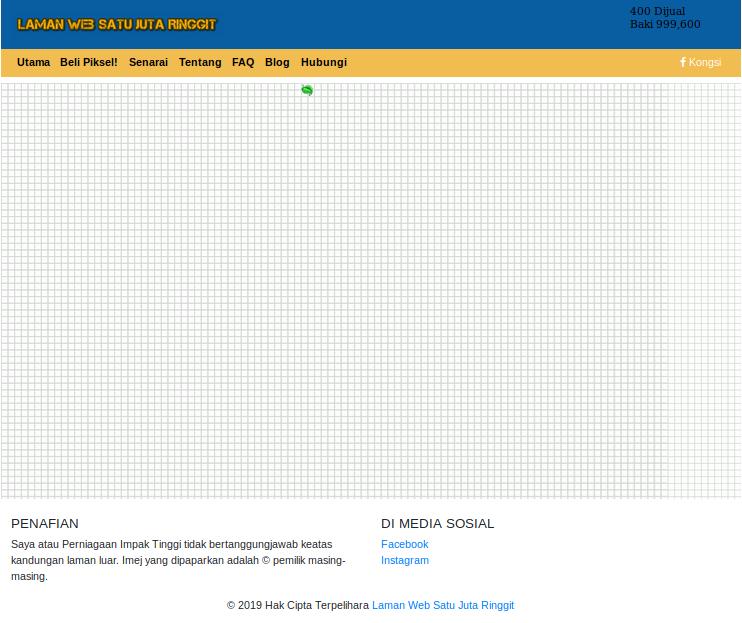 Laman Utama - Home Page Laman Web Satu Juta Ringgit
