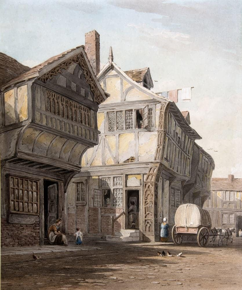 Old Houses, Coventry | Watercolour World