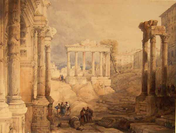 Image result for images paintings of the roman Forum