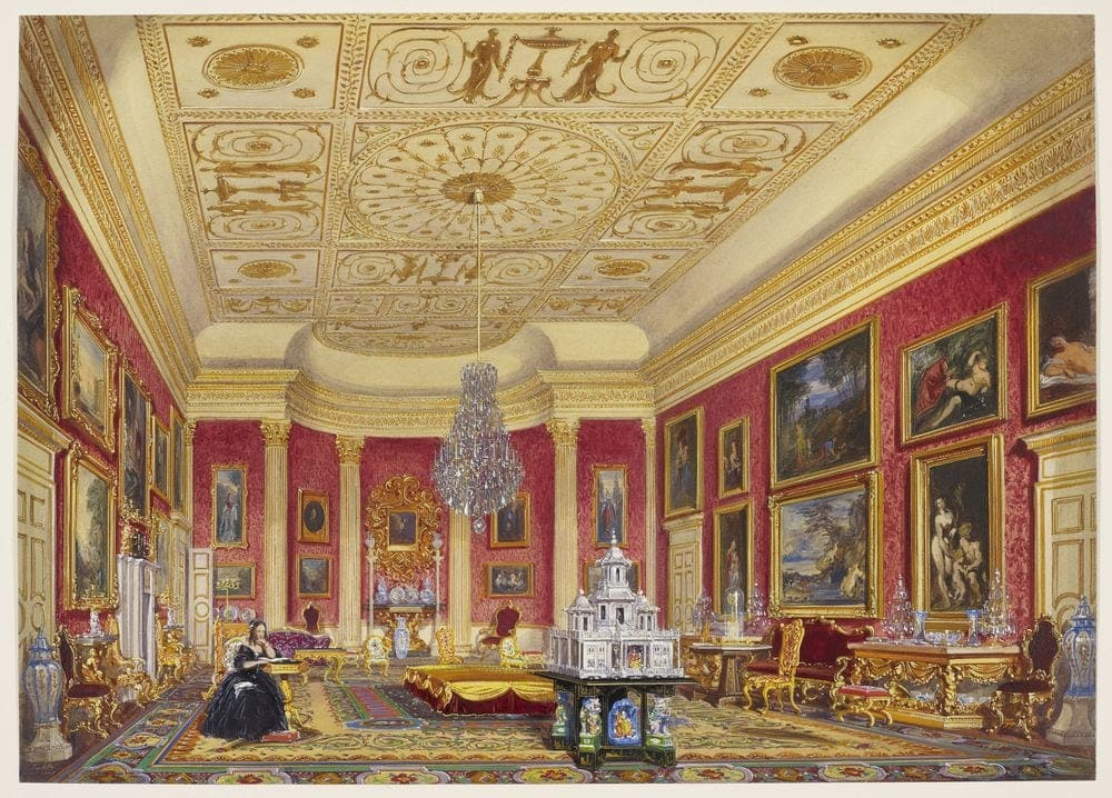 Stowe: State Drawing-Room   Watercolour World