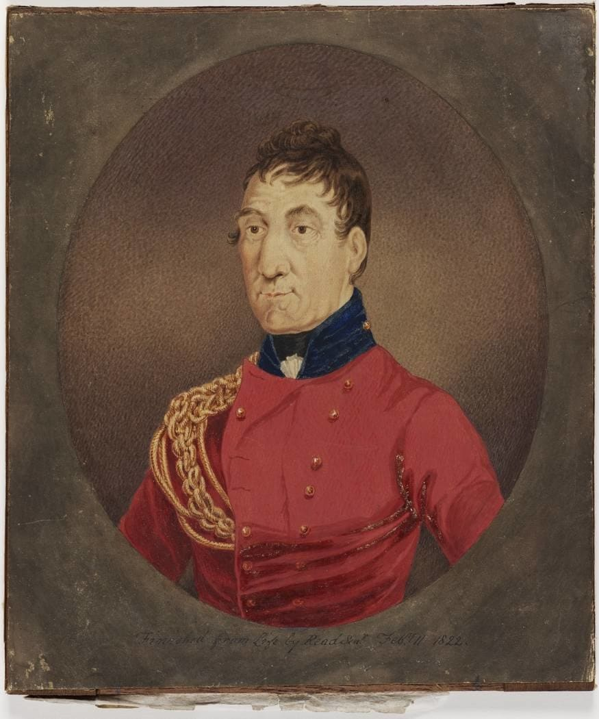 Watercolour painting of Lachlan Macquarie
