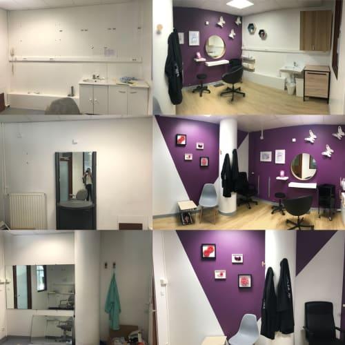 H. Corentin Celton - Salon de coiffure avant/après