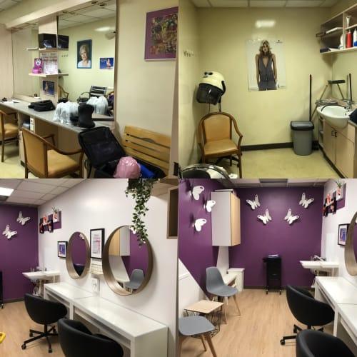 Résidence St. Monique - Salon de coiffure avant/après