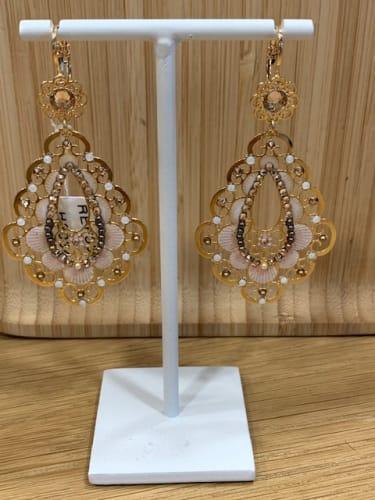 Boucles d'oreilles Thema 102€ - Fabrication Française - Plaque et Or