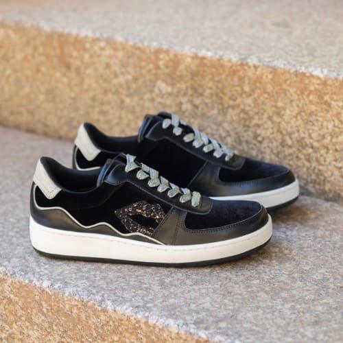 Sneakers loulou velour noir Bon baisers de Paname 125€