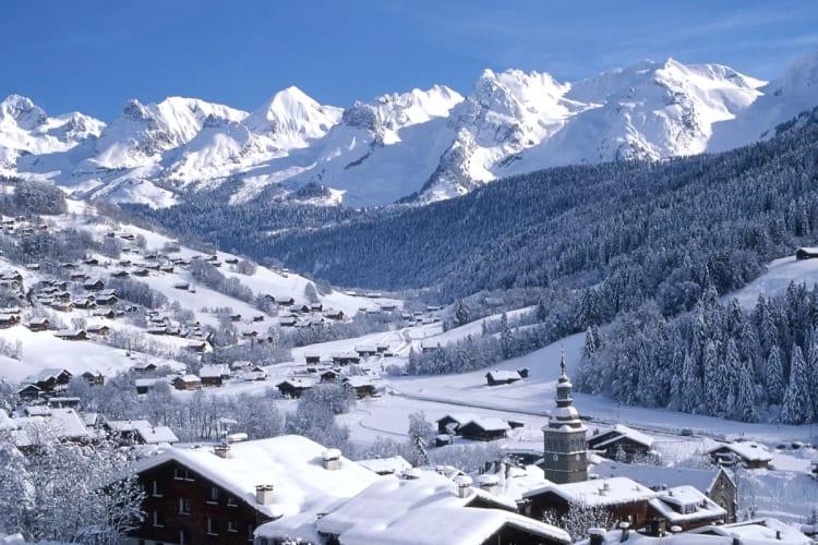 Et que dire de la beauté du paysage sous la neige des montagnes de la Clusaz