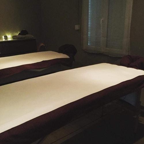 Les tables de massage de l'institut de beauté l'Eveil des Sens