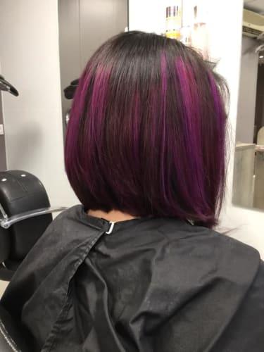 Coloration : un violet très tendance et osé