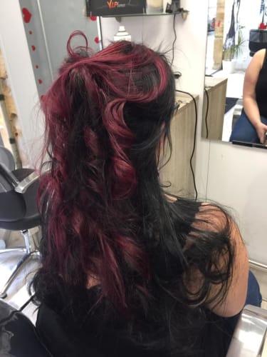 Un coiffage sur des cheveux longs
