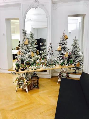 Le salon de coiffure mixte Charles Hubert & Gaetan à Lille en fête  avec la jolie décoration du jour de l'an