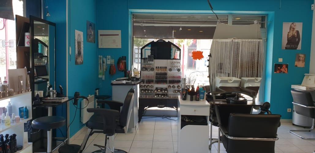 L'espace intérieur du salon Authentik Coiffure