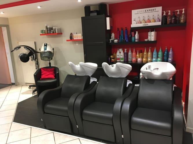 Bac à shampooing du Salon de coiffure