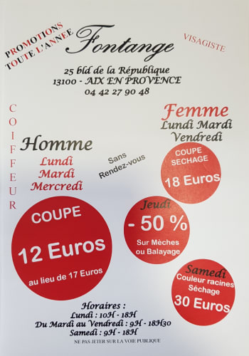 Promotion du salon Fontange