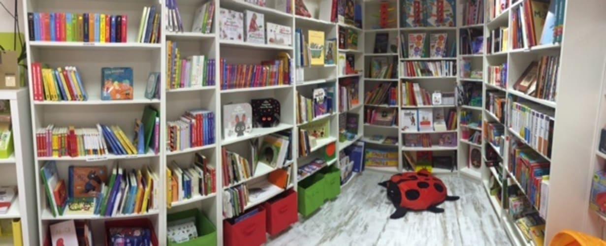 La partie librairie de La Cachette Secrète