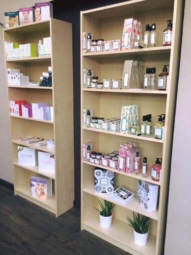 Les produits mis en vente dans l'espace boutique