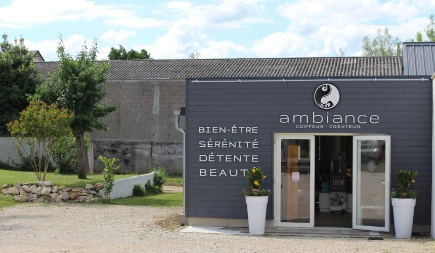 La devanture du salon Ambiance Coiffeur-Créateur à La Chaussée-Saint-Victor