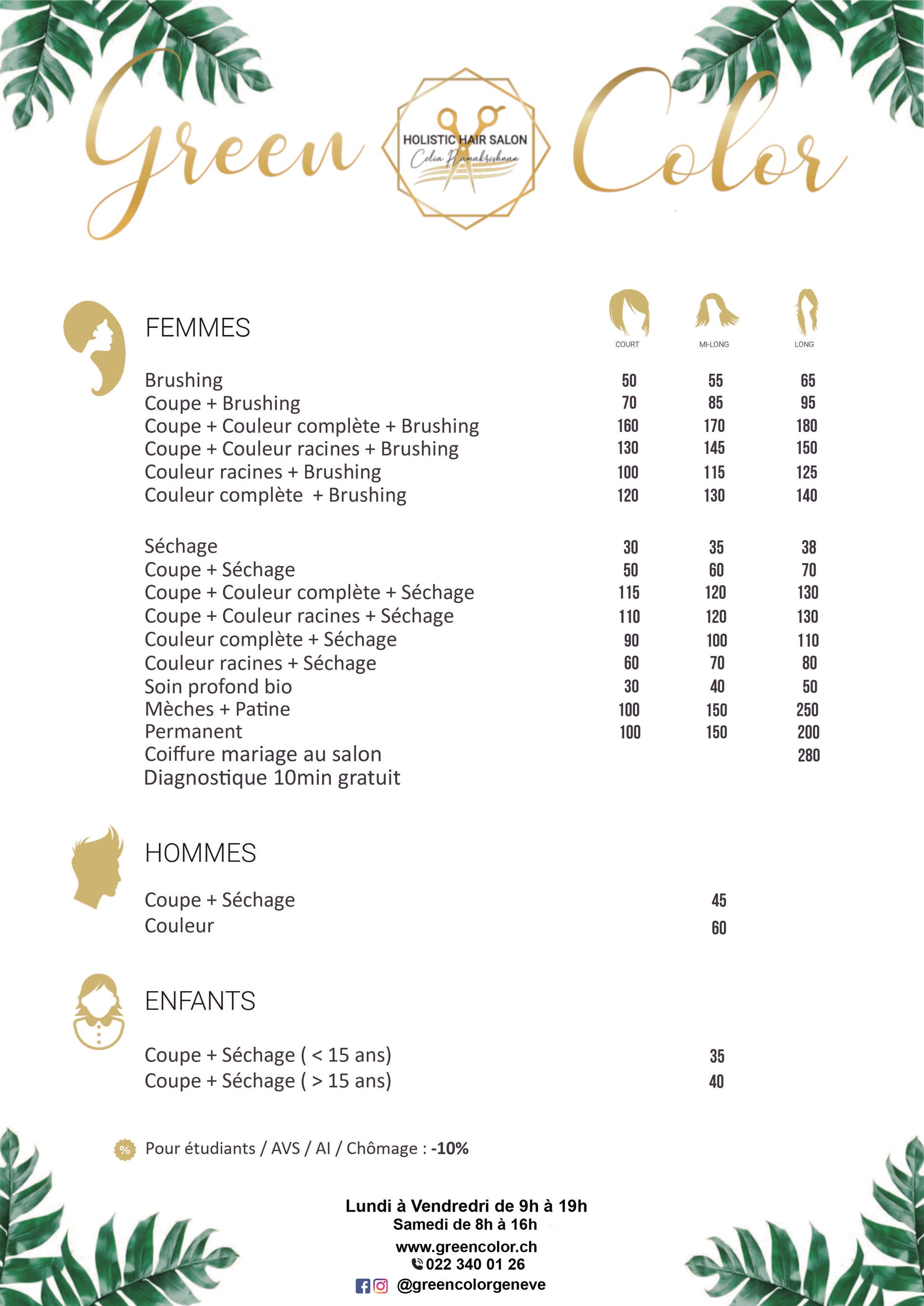 Salon de coiffure à Genève