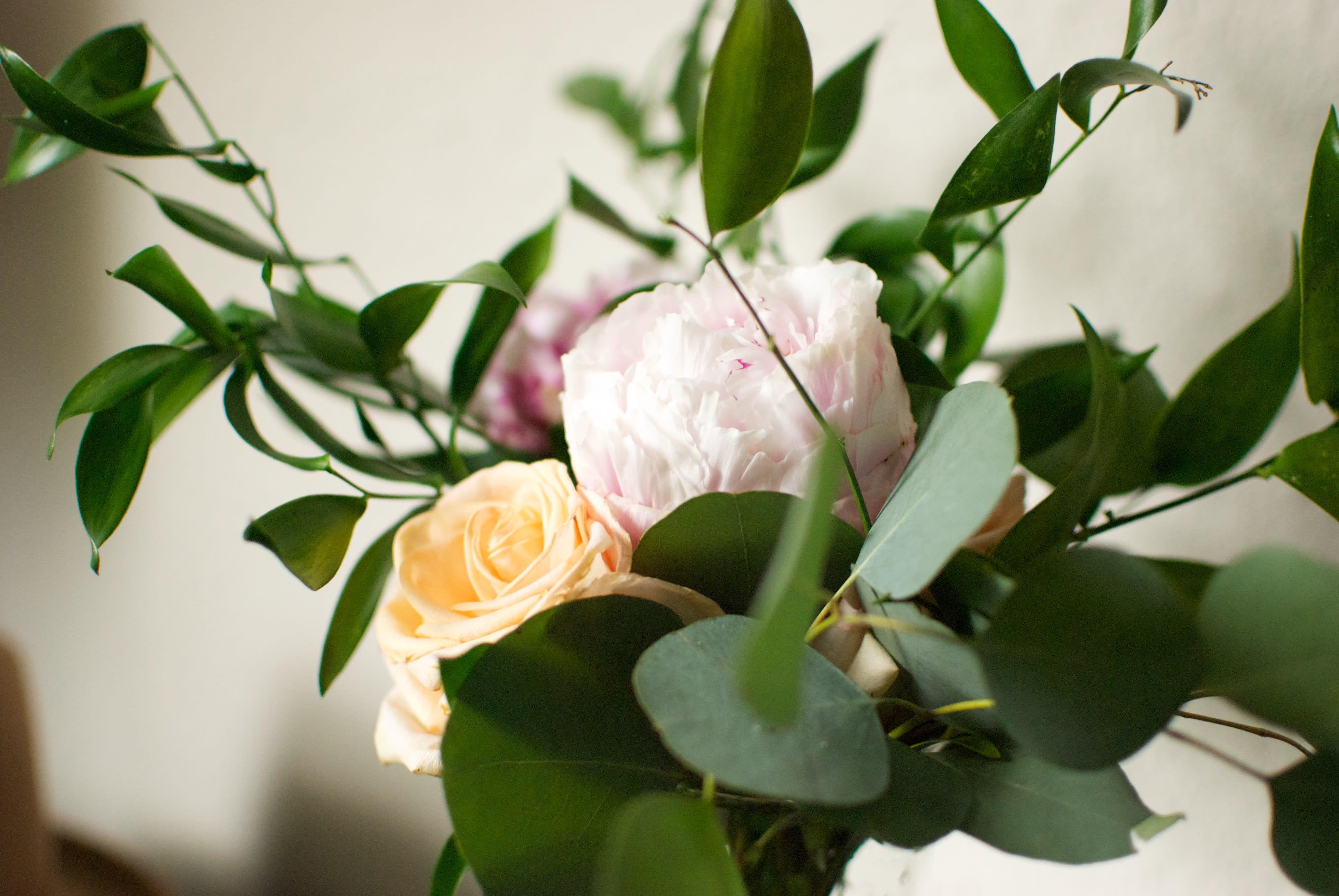 rearranged bridesmaid bouquet